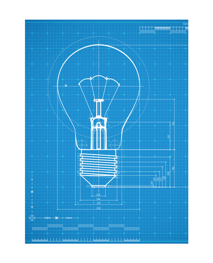 Lightbulb Drawing Blueprint